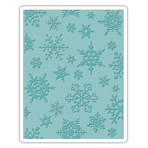 Tim Holtz Sizzix SIMPLE SNOWFLAKES Texture Fades Embossing Folder 662432 Preview Image