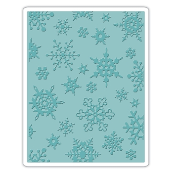 Tim Holtz Sizzix SIMPLE SNOWFLAKES Texture Fades Embossing Folder 662432