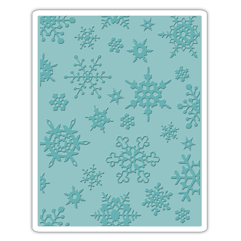 Tim Holtz Sizzix SIMPLE SNOWFLAKES Texture Fades Embossing Folder 662432 zoom image