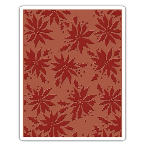 Tim Holtz Sizzix POINSETTIAS Texture Fades Embossing Folder 662433 Preview Image