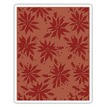 Tim Holtz Sizzix POINSETTIAS Texture Fades Embossing Folder 662433