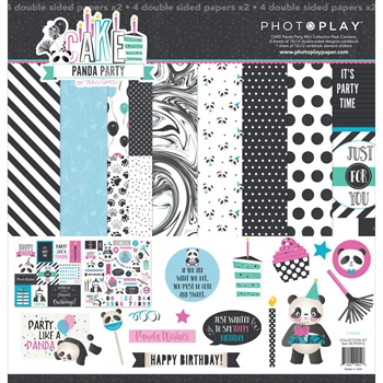 PhotoPlay CAKE PANDA PARTY 12 x 12 Collection Pack CPP2912