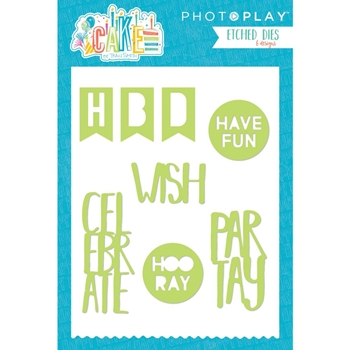 PhotoPlay CAKE WORDS Die Set CK2915