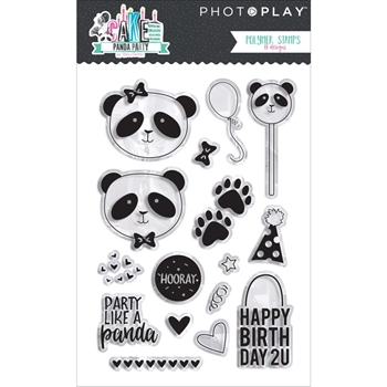 PhotoPlay CAKE PANDA PARTY Clear Stamps CPP2916