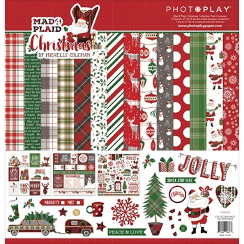 PhotoPlay MAD 4 PLAID CHRISTMAS 12 x 12 Collection Pack MPC2876