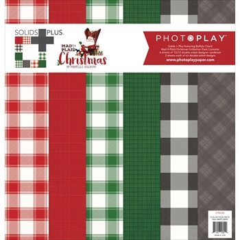 PhotoPlay MAD 4 PLAID CHRISTMAS BUFFALO CHECK 12 x 12 Collection Pack MPC2890