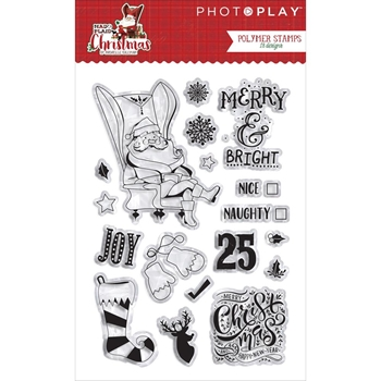 PhotoPlay MAD 4 PLAID CHRISTMAS Clear Stamps MPC2879