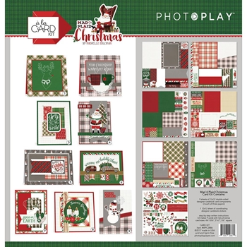 PhotoPlay MAD 4 PLAID CHRISTMAS Card Kit MPC2886