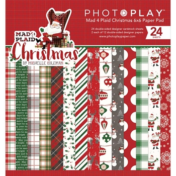 PhotoPlay MAD 4 PLAID CHRISTMAS 6 x 6 Paper Pad MPC2877
