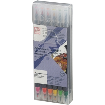 Zig Watercolor System Art and Graphic Twin RB+F BASIC COLORS 12VBA