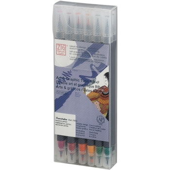Zig Watercolor System Art and Graphic Twin RB+F DEEP COLORS 12VDE