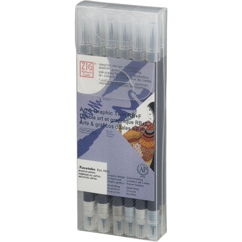 Zig Watercolor System Art and Graphic Twin RB+F GRAY COLORS 12VGR* Preview Image