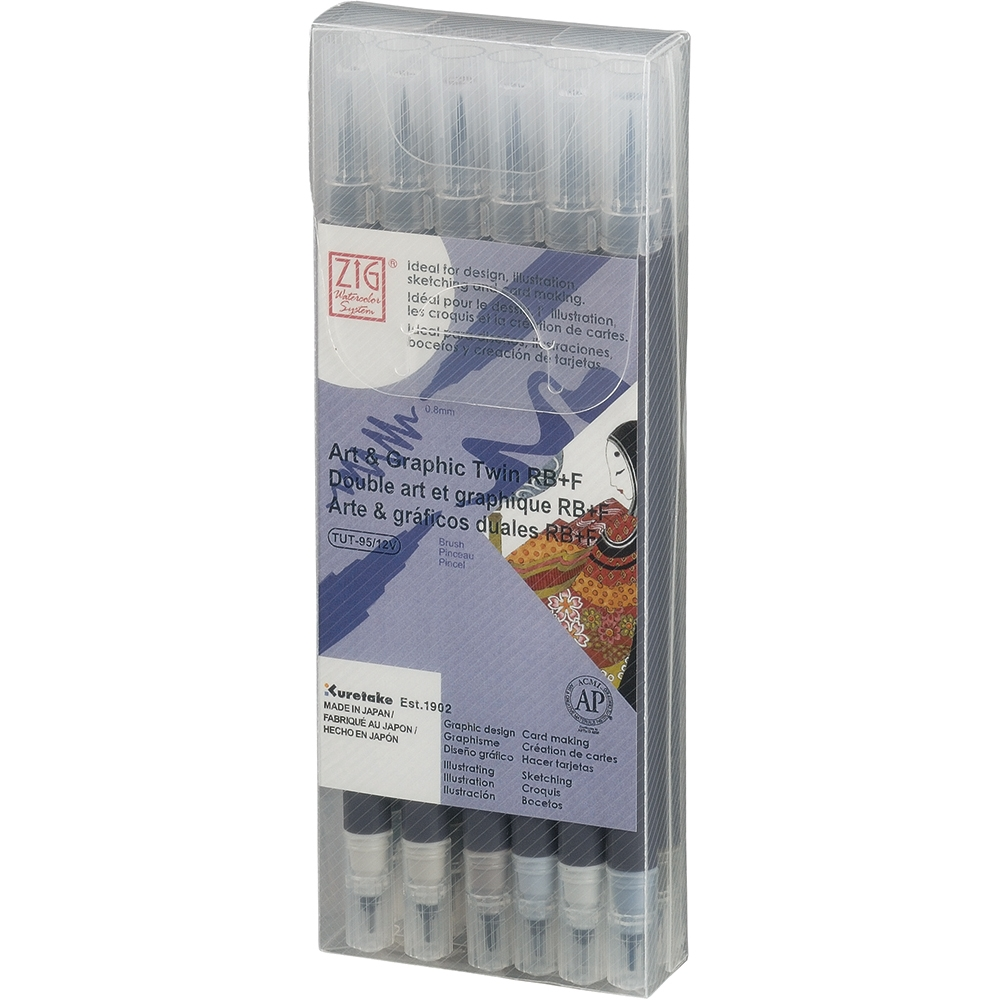 Zig Watercolor System Art and Graphic Twin RB+F GRAY COLORS 12VGR* zoom image
