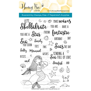 Honey Bee MERMAID SONG Clear Stamp Set HBST72