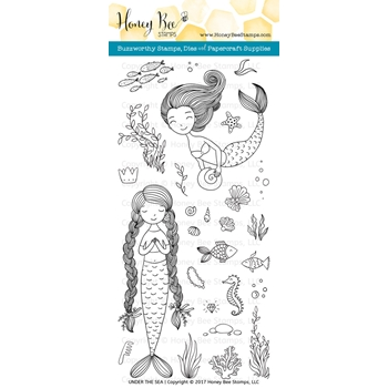 Honey Bee UNDER THE SEA Clear Stamp Set HBST71