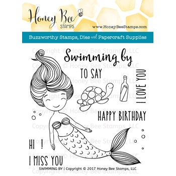 Honey Bee SWIMMING BY Clear Stamp Set HBST70