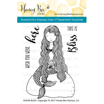 Honey Bee OCEAN BLISS Clear Stamp Set HBST69