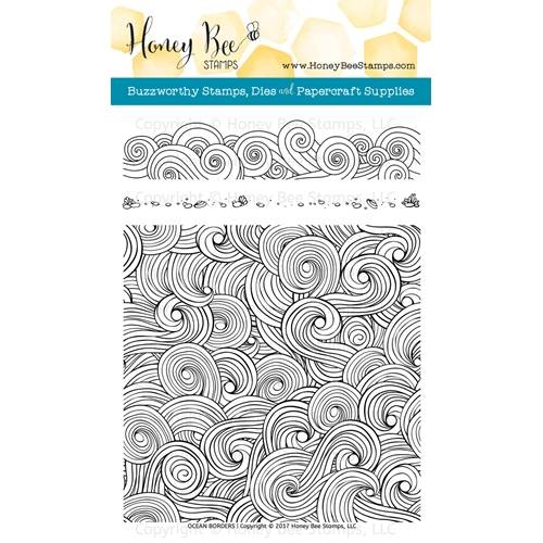 Honey Bee OCEAN BORDERS Clear Stamp Set HBST67 Preview Image