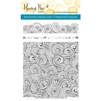 Honey Bee OCEAN BORDERS Clear Stamp Set HBST67