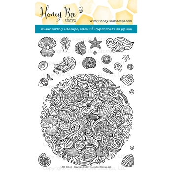 Honey Bee ZEN OCEAN Clear Stamp Set HBST66