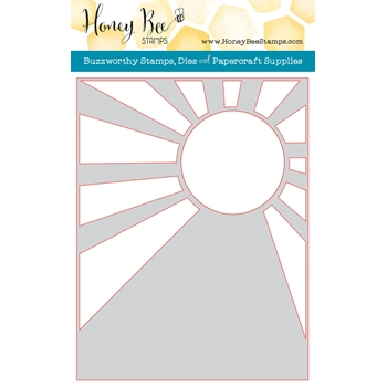 Honey Bee SUNBURST A2 COVER PLATE Die HBDSSBC