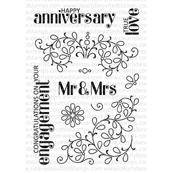 Clearly Besotted MR AND MRS Clear Stamp Set