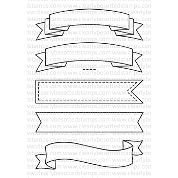 Clearly Besotted BASIC BANNERS Clear Stamp Set