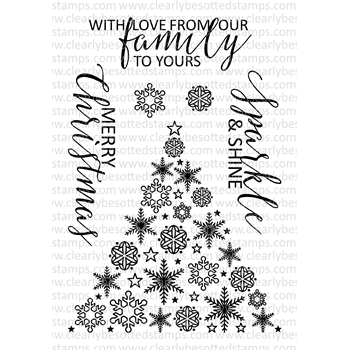 Clearly Besotted CHRISTMAS SPARKLE Clear Stamp Set