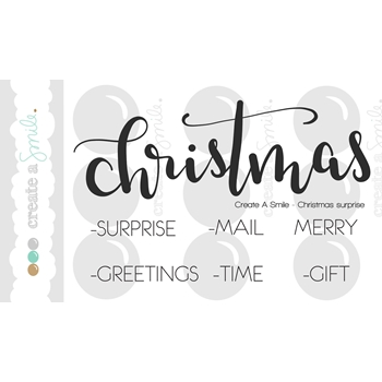 Create A Smile CHRISTMAS SURPRISE Clear Stamp CLCS47