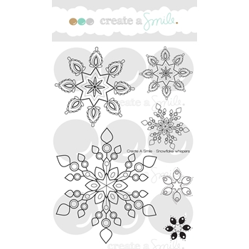 Create A Smile SNOWFLAKE WHISPERS Clear Stamp CLCS48