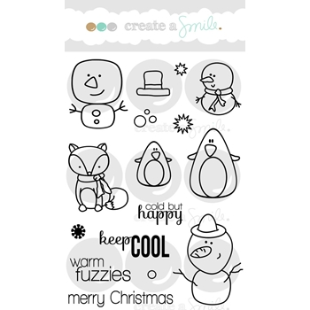 Create A Smile COOL BUDDIES Clear Stamp CLCS49