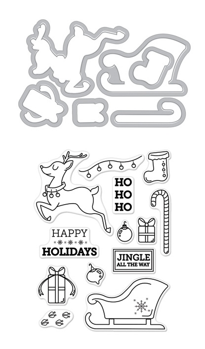 Hero Arts Stamp And Cuts JINGLE ALL THE WAY DC216 zoom image