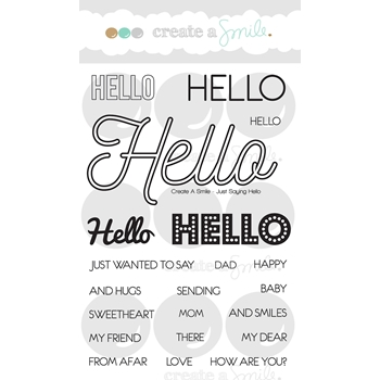 Create A Smile JUST SAYING HELLO Clear Stamp CLCS43
