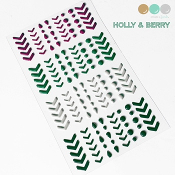 Create A Smile HOLLY AND BERRY Enamel Stickers ESCS6