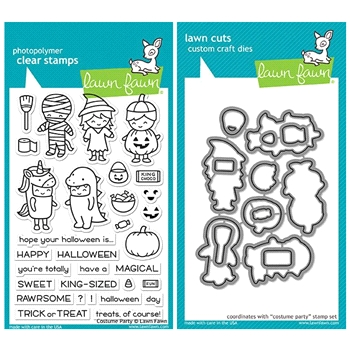 Lawn Fawn SET LF17SETCP COSTUME PARTY Clear Stamps and Dies