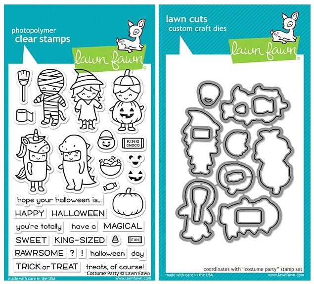 Lawn Fawn SET LF17SETCP COSTUME PARTY Clear Stamps and Dies  zoom image