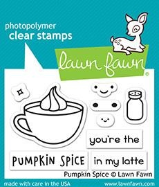 Lawn Fawn PUMPKIN SPICE Clear Stamps LF1462