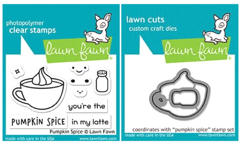 Lawn Fawn SET LF17SETPS PUMPKIN SPICE Clear Stamps and Dies zoom image