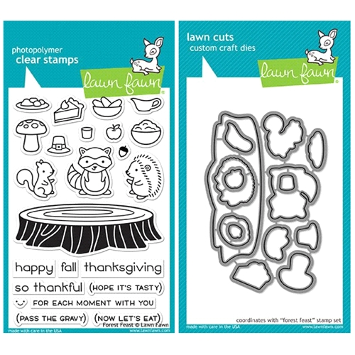 Lawn Fawn SET LF17SETFF FOREST FEAST Clear Stamps and Dies Preview Image