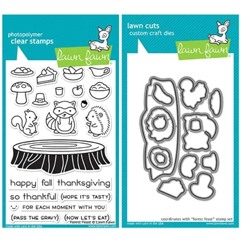 Lawn Fawn SET LF17SETFF FOREST FEAST Clear Stamps and Dies