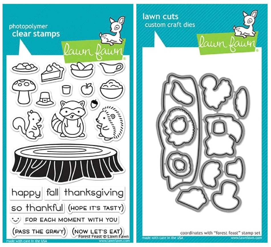 Lawn Fawn SET LF17SETFF FOREST FEAST Clear Stamps and Dies zoom image