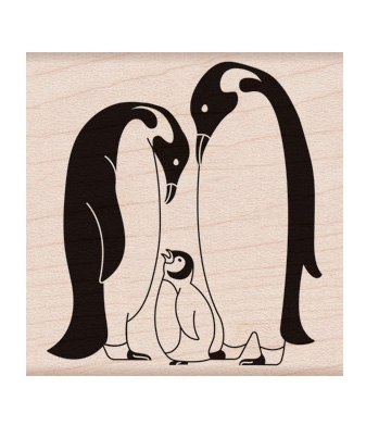 Hero Arts Rubber Stamp PENGUIN FAMILY F6249 zoom image