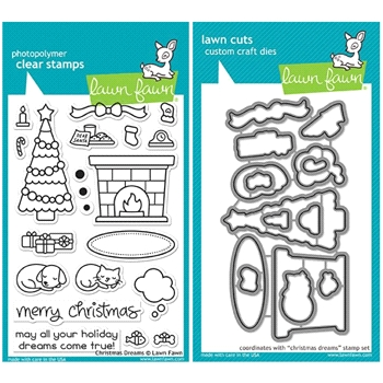 Lawn Fawn SET LF17SETCD CHRISTMAS DREAMS Clear Stamps and Dies