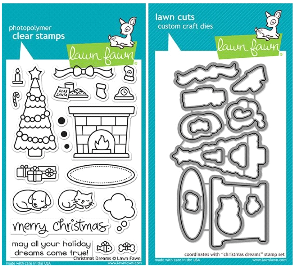 Lawn Fawn SET LF17SETCD CHRISTMAS DREAMS Clear Stamps and Dies zoom image