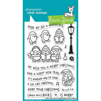 Lawn Fawn HERE WE GO A-WADDLING Clear Stamps LF1468