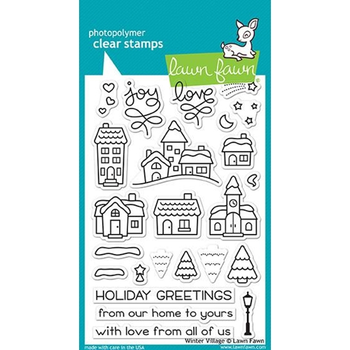 Lawn Fawn WINTER VILLAGE Clear Stamps LF1472 Preview Image