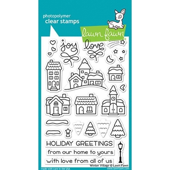 Lawn Fawn WINTER VILLAGE Clear Stamps LF1472