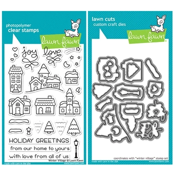 Lawn Fawn SET LF17SETWV WINTER VILLAGE Clear Stamps and Dies