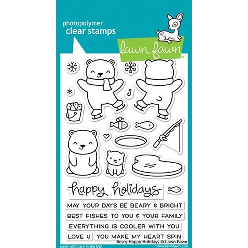 Lawn Fawn BEARY HAPPY HOLIDAYS Clear Stamps LF1470 Preview Image