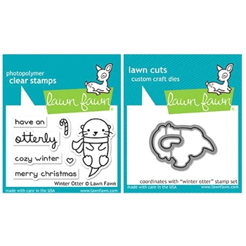 Lawn Fawn SET LF17SETWO WINTER OTTER Clear Stamps and Dies